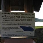 Popis jedné z přehrad přímo na místě